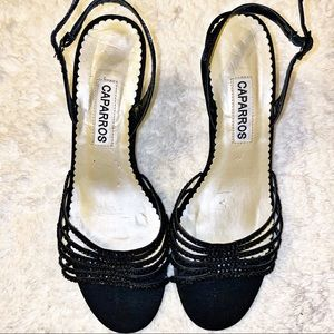 Caparros Sparkly Sequin Strappy Prom Heels